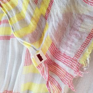 Levi's Scarf Wrap Geometric Soft Gauzy red yellow